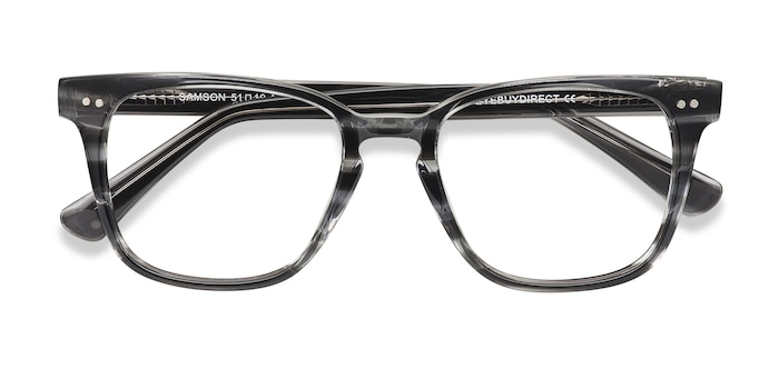 Gray Striped  Samson -  Acetate Eyeglasses