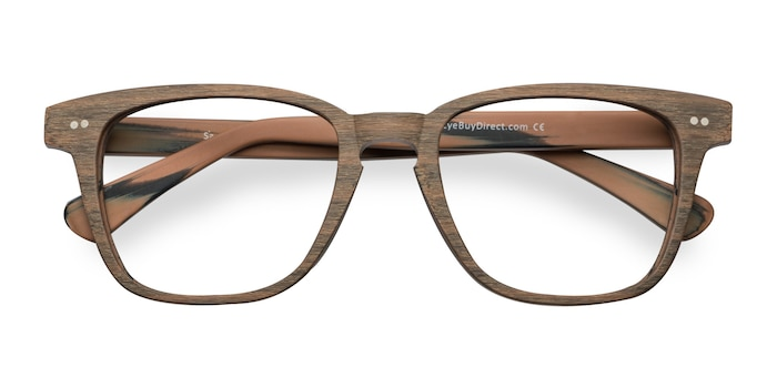 Brown Striped  Samson -  Acetate Eyeglasses