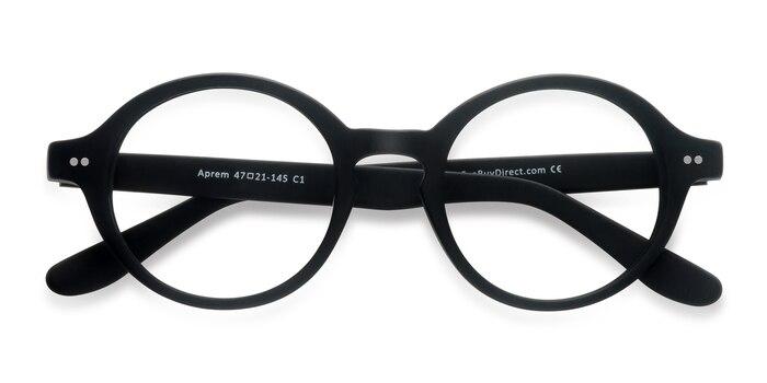 Matte Black Aprem -  Vintage Acetate Eyeglasses