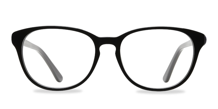 Mars Black Acetate Eyeglass Frames from EyeBuyDirect