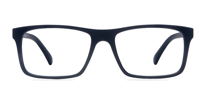 Persian Matte Navy Plastic Eyeglass Frames from EyeBuyDirect