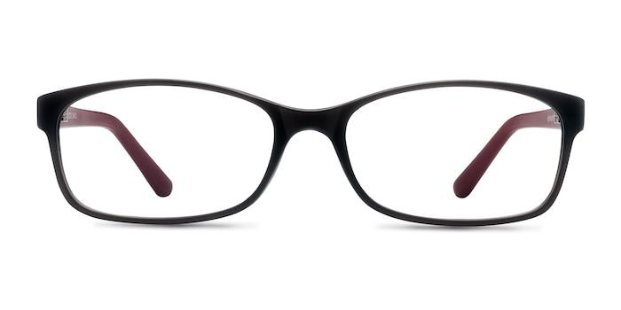 Beads Matte Gray Plastic Eyeglass Frames from EyeBuyDirect