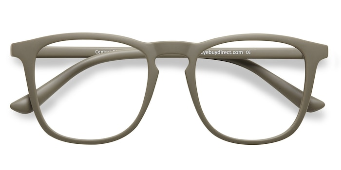 Matte Green  Central -  Plastic Eyeglasses