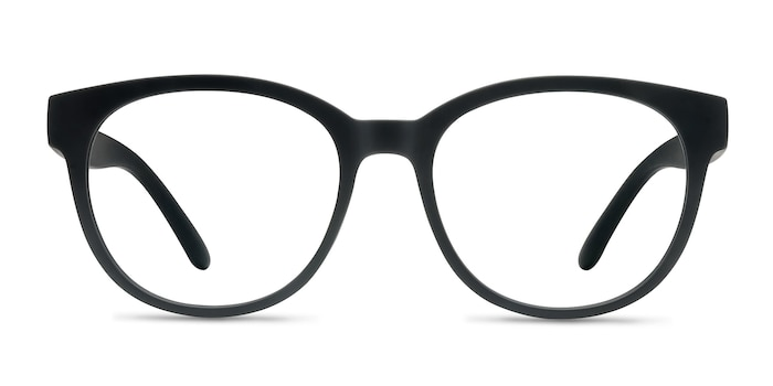 Grace Matte Black Plastic Eyeglass Frames from EyeBuyDirect
