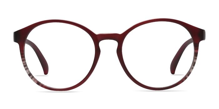Delaware Matte Burgundy Plastic Eyeglass Frames from EyeBuyDirect