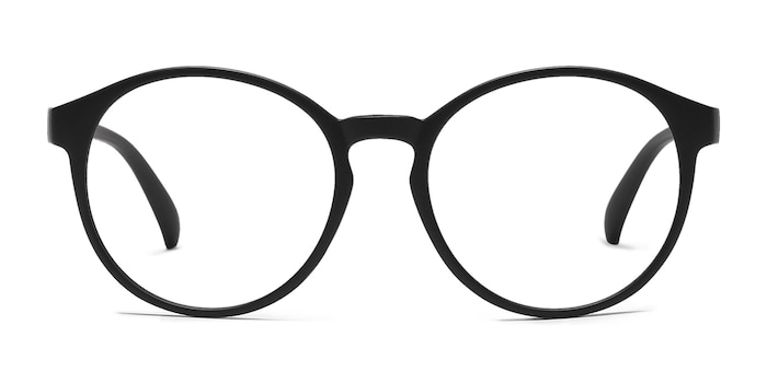 Delaware Matte Black Plastic Eyeglass Frames from EyeBuyDirect