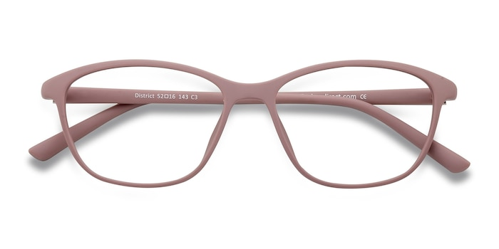 Matte Pink District -  Lightweight Plastic Eyeglasses
