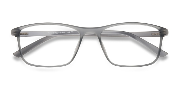 Matte Gray Wyoming -  Lightweight Plastic Eyeglasses