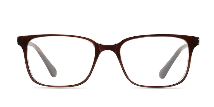 November Brown Clear  Plastic Eyeglass Frames from EyeBuyDirect