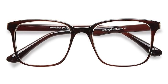 Brown Clear  November -  Classique Plastique Lunettes de Vue