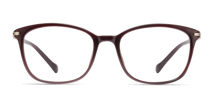 Nola Dark Red Plastic Eyeglass Frames from EyeBuyDirect