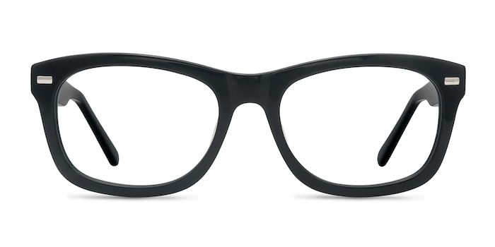 Cage  Black  Acetate Eyeglass Frames from EyeBuyDirect