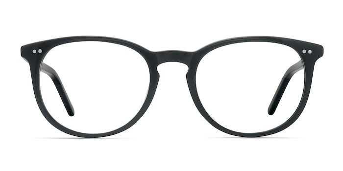 Aura Jet Black Acetate Eyeglass Frames from EyeBuyDirect