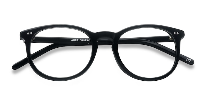 Jet Black Aura -  Fashion Acetate Eyeglasses