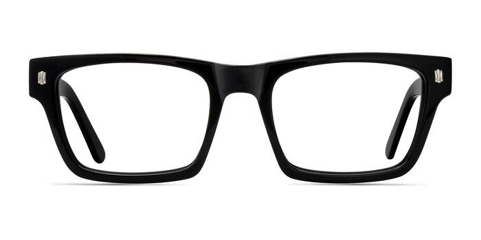 Mike Black Acetate Eyeglass Frames from EyeBuyDirect