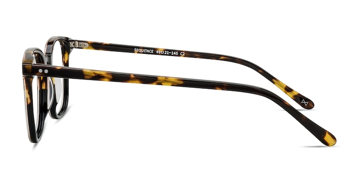 Sequence Amber Tortoise Acetate Eyeglass Frames from EyeBuyDirect