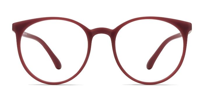Portrait Matte Red Plastic Eyeglass Frames from EyeBuyDirect