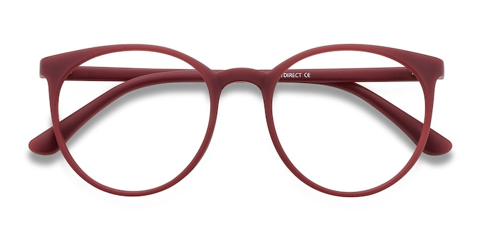 Matte Red Portrait -  Plastic Eyeglasses