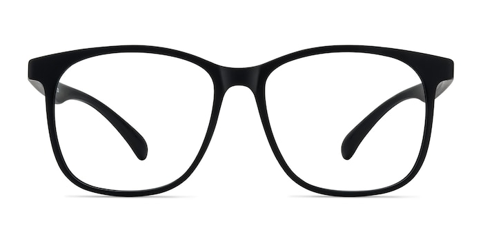 Character Matte Black Plastic Eyeglass Frames from EyeBuyDirect