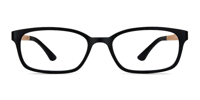 Clover Black & Apricot Plastic Eyeglass Frames from EyeBuyDirect