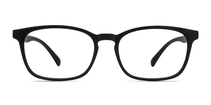 Forest Matte Black Plastic Eyeglass Frames from EyeBuyDirect