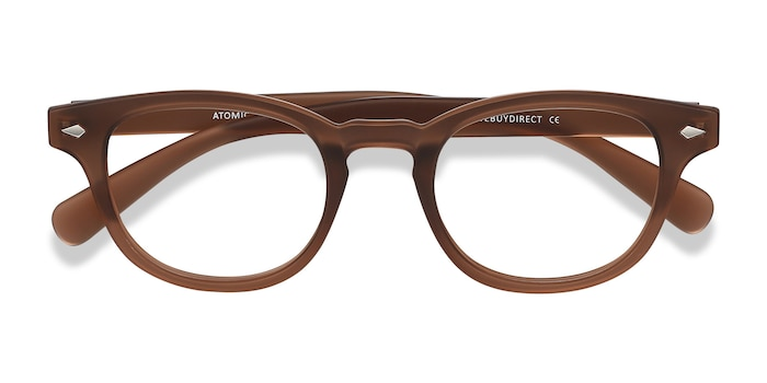 Matte Brown Atomic -  Plastic Eyeglasses