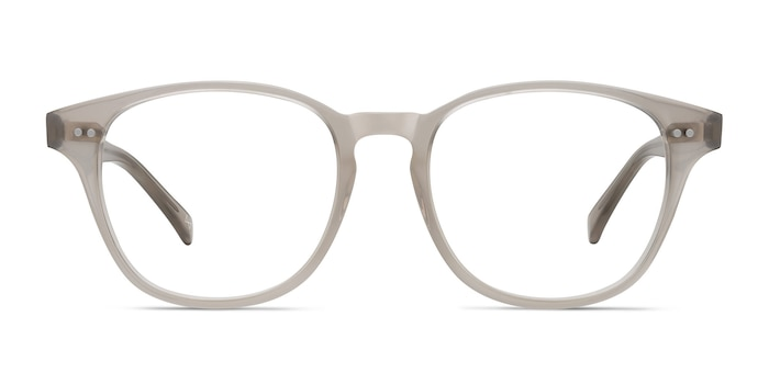 Lucid Clear Gray Acetate Eyeglass Frames from EyeBuyDirect