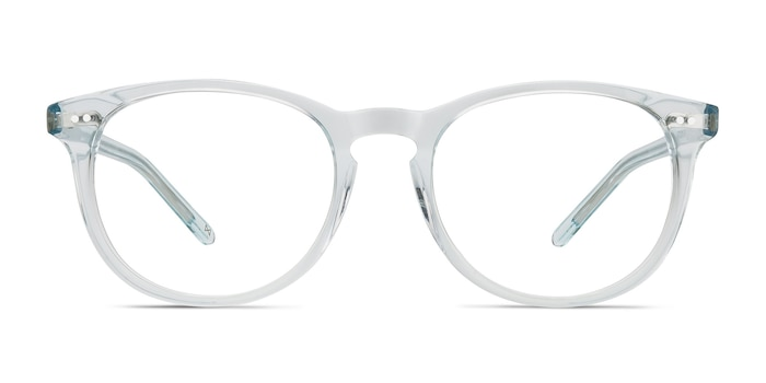 Aura Celeste Acetate Eyeglass Frames from EyeBuyDirect