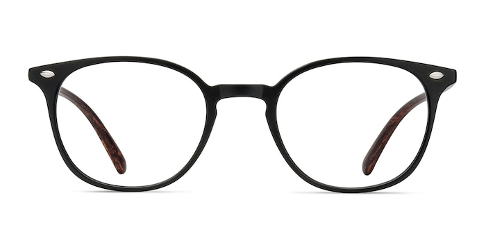 Hubris Matte Black Plastic Eyeglass Frames from EyeBuyDirect