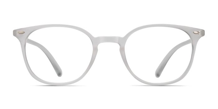 Hubris Matte Clear Plastic Eyeglass Frames from EyeBuyDirect