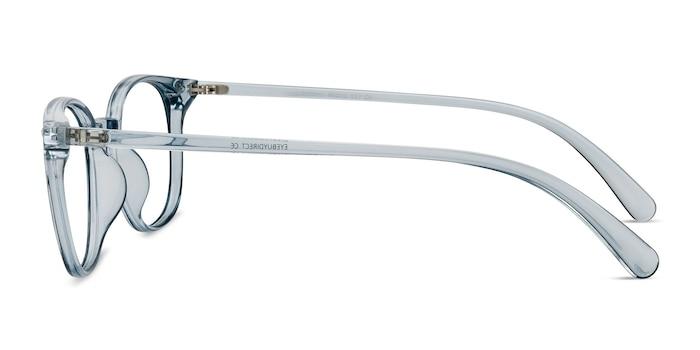Hubris Clear Blue Plastic Eyeglass Frames from EyeBuyDirect