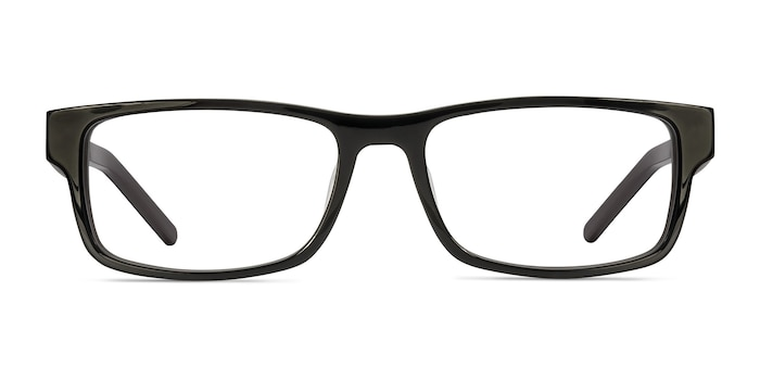 Aidan Black Acetate Eyeglass Frames from EyeBuyDirect