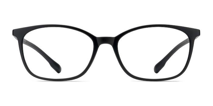 Glider Black Plastic Eyeglass Frames from EyeBuyDirect