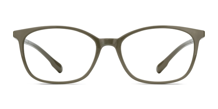 Glider Olive Green Plastic Eyeglass Frames from EyeBuyDirect