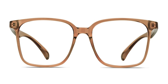 Blocks Clear Brown Plastic Eyeglass Frames from EyeBuyDirect