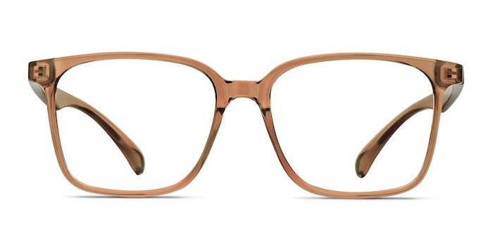 Blocks Clear Brown Plastic Eyeglass Frames from EyeBuyDirect