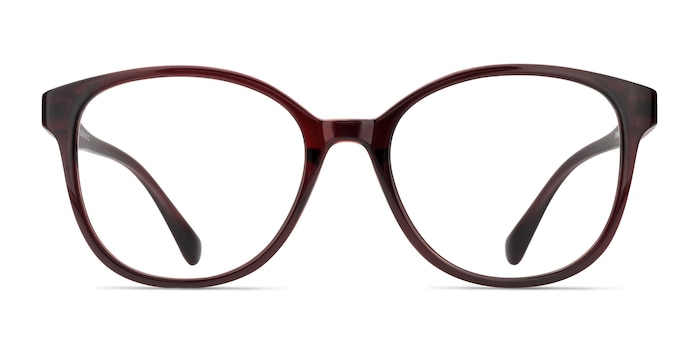The Beat Burgundy Plastic Eyeglass Frames from EyeBuyDirect