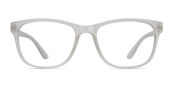 Milo Frosted Clear Plastic Eyeglass Frames from EyeBuyDirect