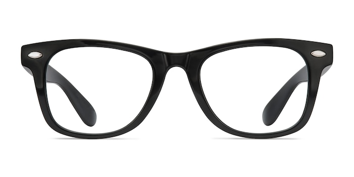 Atlee Black Plastic Eyeglass Frames from EyeBuyDirect