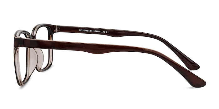 November Brown Plastic Eyeglass Frames from EyeBuyDirect