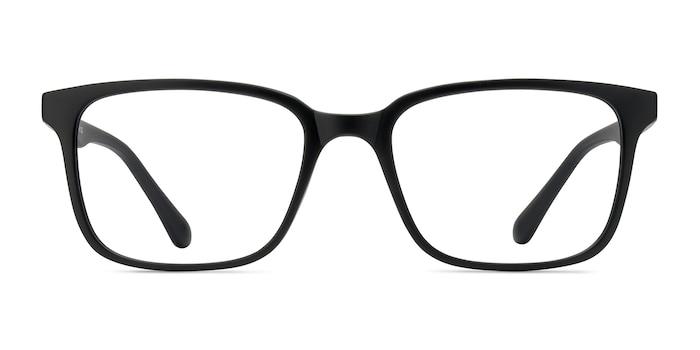 November Matte Black Plastic Eyeglass Frames from EyeBuyDirect