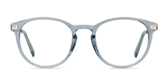 Daphne Clear Blue Plastic-metal Eyeglass Frames from EyeBuyDirect