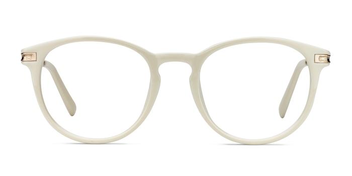 Daphne White Plastic-metal Eyeglass Frames from EyeBuyDirect