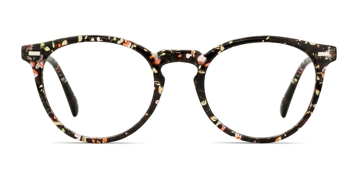 Peninsula Red Floral Plastic Eyeglass Frames from EyeBuyDirect