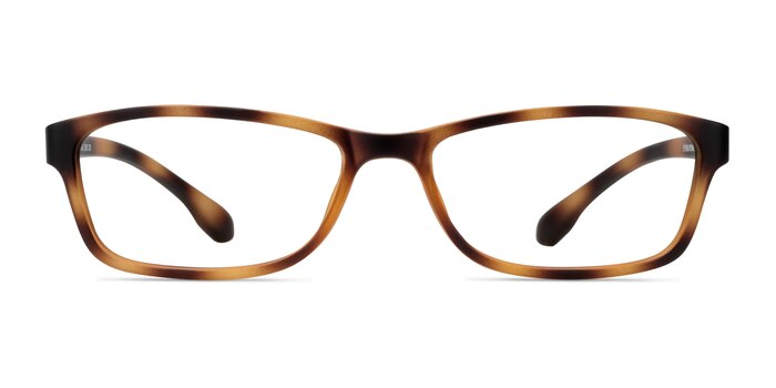 Versus Matte Tortoise Plastic Eyeglass Frames from EyeBuyDirect