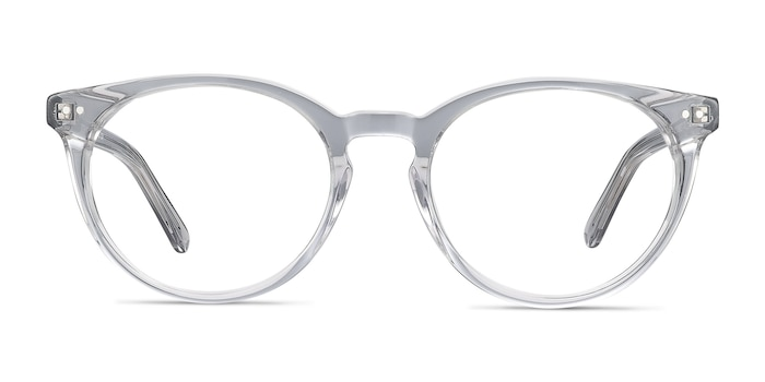 Morning Gray Clear Acetate Eyeglass Frames from EyeBuyDirect