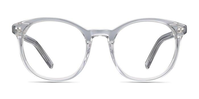 Primrose Gray Clear Acetate Eyeglass Frames from EyeBuyDirect