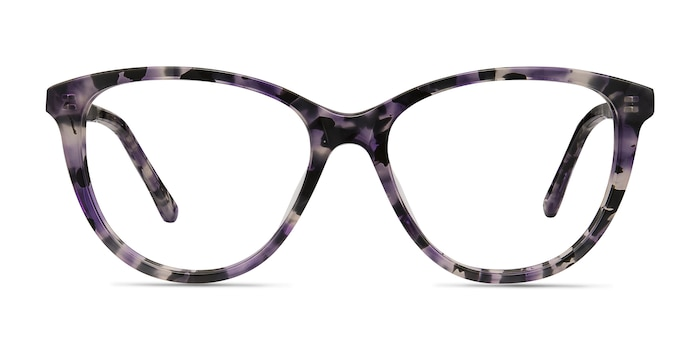 Lancet Purple Floral Acetate Eyeglass Frames from EyeBuyDirect
