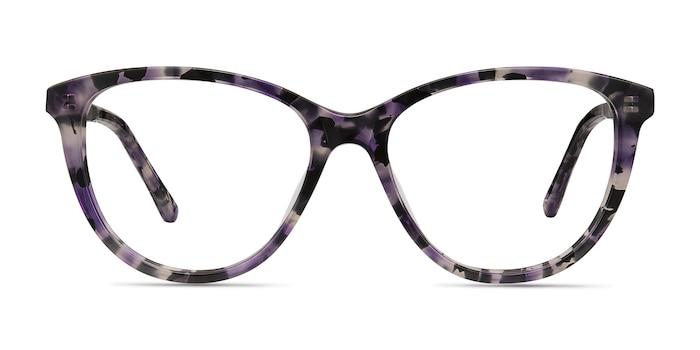 Lancet Purple Floral Acétate Montures de Lunette de vue d'EyeBuyDirect