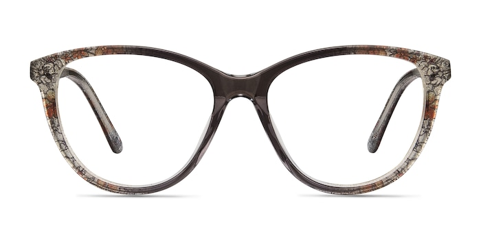 Lancet Clear Floral Acetate Eyeglass Frames from EyeBuyDirect